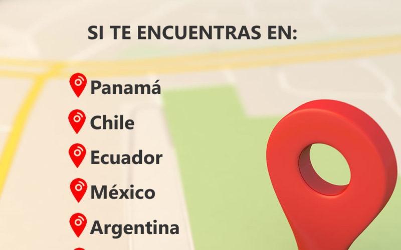 Venezuela, Panama and Colombia